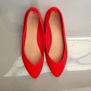 OLD NAVY RED FLAT SHOES